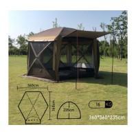 Полуавтоматический шестиугольный шатер-палатка с одним входом MIMIR-2905