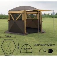 Полуавтоматический шестиугольный шатер-палатка куб с одним входом арт.MIMIR2905-S