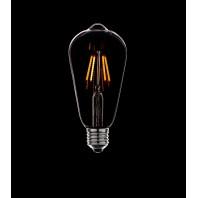 Ретро лампа светодиодная, не диммируемая ST64 LED 4W  4 филамента(38мм) 2200К  E27 Золото