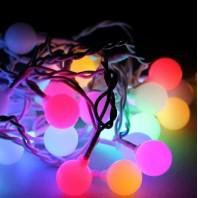 Гирлянда 30 LED шарики большие RGB 2.9м 4.4м 8 режимов (KOC_GIR30LEDBigBALL_)