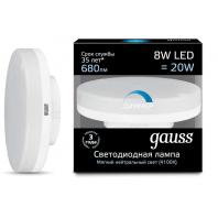 Лампа Gauss LED GX53 8W 680lm 4100K диммируемая (108408208-D)