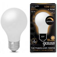 Светодиодная лампа диммируемая gauss 102202110-D, E27, A60, 10Вт