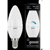 Лампа Gauss LED Свеча-dim E14 7W 560lm 4100К диммируемая (103101207-D)