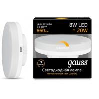 Лампа Gauss LED GX53 8W 680lm 3000K диммируемая (108408108-D)