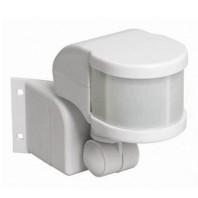 Датчик движения ИК угловой 1100w 270 гр. 12м IP44 белый (ДД 018В бел.)