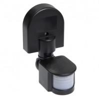 Датчик движения ИК настенный 1100w 180 гр. 12м IP44 черный (ДД 008 чер.)