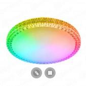 Управляемый светодиодный светильник PLUTON RGB 60W R-520-CLEAR/SHINY-220-IP40