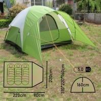 Палатка туристическая 3-х местная Evanston 3 3-х местная палатка из фиберглассового материала