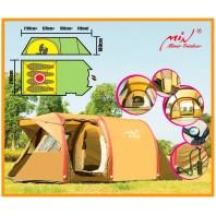 Палатка кемпинговая 4-х местная надувная Mimir Outdoor арт.X-ART1855