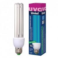 Лампа ультрафиолетовая бактерицидная. ESL-PLD-15/UVCB/E27/CL Спектр UVC 253,7нм. Картон.
