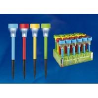Набор SET 1 садовых светильников на солнечной батарее Sparkle. 4 цвета по 6 штук. Серия Classic. Упаковка-дисплей USL-C-609/PT365