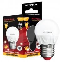 Светодиодная лампа SUPRA SL-LED-G45-8W/2700/E27-D (комплект 10 ламп)
