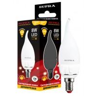 Светодиодная лампа свеча на ветру SUPRA SL-LED-CNW-8W/2700/E14-D (комплект 10ламп)