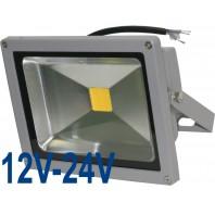Прожектор светодиодный низковольтный 30Вт (12V-24V) FLU30S Теплый белый